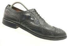 Allen Edmonds McAllister Black Leather Wingtip Lace Up Oxfords Shoes Men's 9.5 B