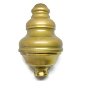 """B1 large size 14 cm solid Brass SPUN BED KNOB vintage style hollow 5.1/2"""" high"""