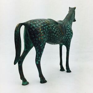 NEW Collectable Brass Horse Figurine Door Stopper Paper Weight Book End GIFT