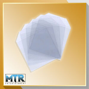 100 x CD/DVD Clear Plastic High Quality Wallets - 150 Micron
