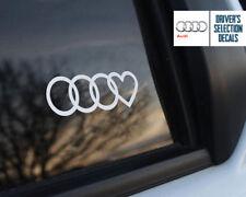 Audi Love heard Euro Style window sticker decal