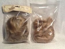 """Lot Of 2 Tallinas Doll Wig style 725 Size 11"""" Dk. Blonde New Nip + Braided"""