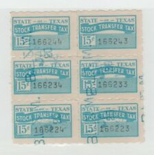 Texas Stock Transfer state Revenue Fiscal Stamp 12-10
