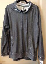 NEW Womens Charcoal Grey Burn Out Sweatshirt $70 XL Large L Fade Shirt Soft Top