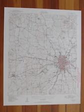 Tyler Texas 1949 Original Vintage USGS Topo Map