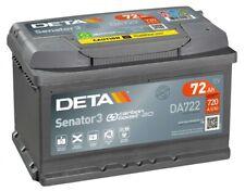 DETA DA722 Senator3 12V 72Ah 720A Autobatterie