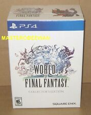 PS4 World of Final Fantasy Collector's Edition New Square-Enix Exclusive + DLC