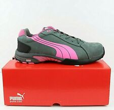 Puma Womens Balance Steel Toe Leather Shoes Size 9 Work Safety, Pink/Grey NEW