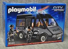 Playmobil 6043 Polizei-Mannschaftswagen mit Licht und Sound Neu