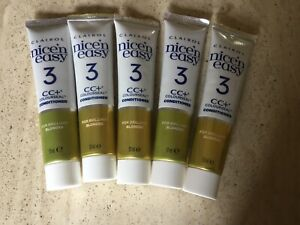 Clarol Nice n Easy conditioner for blonde hair 5 X 57ml tubes