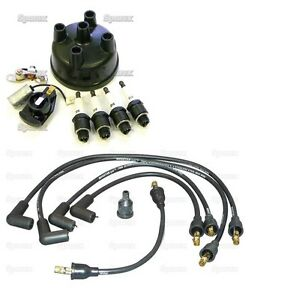 Complete Tune-Up Kit for Ford 8N Tractor Side Mount Wires Plugs Cap Points Rotor