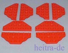 LEGO - 8 x Flügel / Trapez Platte rot 3x6 / Wedge Plate / 2419 NEUWARE