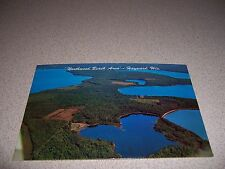1960s Aerial-View Northwood Beach Area Hayward Wisconsin Vtg Postcard