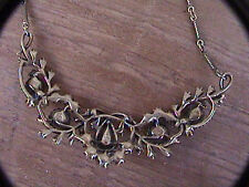 "dainty rhinestone necklace 4"" x 1"" chain choker style 12"" adjustable"