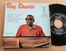 "DISQUE 45T DE RAY CHARLES  "" DEEP IN THE HEART OF TEXAS """