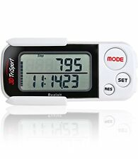3DTriSport walking 3D pedometer for accurate step distance calorie count - white