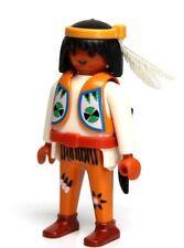 Playmobil Figure Western Indian Warrior w/ Knife Headband Feathers 3872