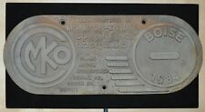 Remanufactured by Morrison-Knudsen Co Train Locomotive Builder Plate Boise SD40