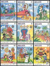 Belize 1985 Christmas/Disney/Animals/Giraffe/Music/Donkey/Animation 9v set b1230