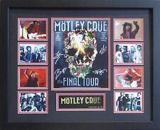 MOTLEY CRUE FINAL TOUR SIGNED LIMITED EDITION FRAMED MEMORABILIA