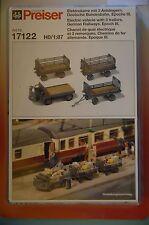 Preiser 17122 CARRO ELETTRICO CON 3 rimorchi tedesco Ferrovie Federali