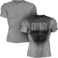 Savage - Men's Sweat Activated Motivational Gym & Workout T-Shirt - Brand New