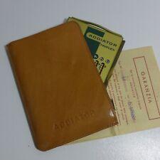 Addiator Triplex Messing Echtledertasche  Calculator Mint ca 1970