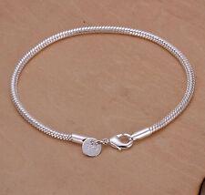 Chain Bracelet 3Mm 20Cm Hlb187 Promotion Price 925Sterling Silver Lovely Snake