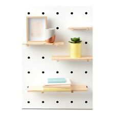 Pegboard Wooden Shelve Display Bookshelf Showcase Living Lounge Room Bedroom