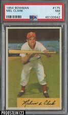 1954 Bowman #175 Mel Clark Philadelphia Phillies PSA 7 NM