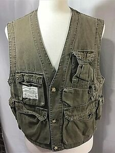 A & F Abercrombie & Fitch Mens Large Vest Adirondack Trail Forest Guide Vintage