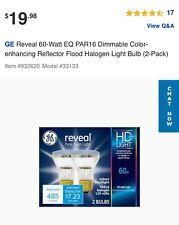 Ge Reveal 60 Watt Eq Par16 Halogen Light Bulb (2 bulbs)