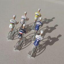 Lot de 6 cyclistes miniatures Julian Alaphilippe - Echelle 1/32 - Cycling figure