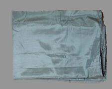 """Three Vintage Curtain Panels Light Teal Tricot lined Shantung 40"""" wide"""