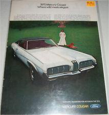 1970 Mercury Cougar ht car ad