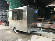 New Stainless Steel Concession Stand Food Trailer Mobile Kitchen Sea Shipping