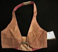 Playboy Women's Leather Bra Braziere Adult Ladies Xtra Small 30 B Cup New Tags