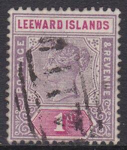"LEEWARD IS 1890 1D WITH ST LUCIA ""A11"" CANCEL, SCARCE !"