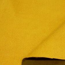 gelb Alcantara Wildleder weich Polster- u Möbel Stoff abriebfest Meterware Tolko