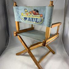 Vtg Sesame Street Bert & Ernie Productions Kids Wood Directors Chair Gold Medal