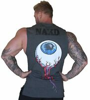 NAKD EYEBALL TANK, SLEEVELESS SHIRT BODYBUILDING MENS GYM SINGLET TRAINING VEST