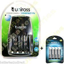 Uniross Red Cargador de batería y 4 x AA Digimax 2850mah 2850 Mah Pilas Ni-mh