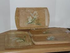 10 Haskelite Serving Trays Snow Geese Hunting Lodge Cabin Resort Man Cave