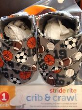 Stride Rite Sports Crib Shoes 6-12 Months New In Package
