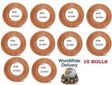 10 ROLLS OF COPPER PIPE 3/16 BRAKE PIPE BRAKE FLUID LINE PIPE 25 FEET LONG