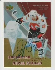 Jarome Iginla 2005 AUTOGRAPHUPPER DECK McDONALDS HOCKEY CARD SIGNED