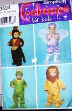 S 3594 Toddler Monkey Frog Lion Costume Pattern ½-4