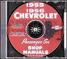 1955-1956 Chevy Shop Manual CD Bel Air Nomad 150 210 Del Ray Chevrolet Repair