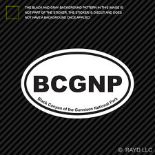 Black Canyon of the Gunnison National Park Oval Sticker Decal Euro BCGNP