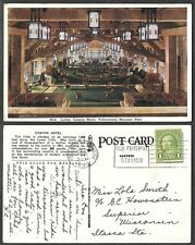 1931 Wyoming Postcard - Canyon Hotel Lobby - Yellowstone National Park